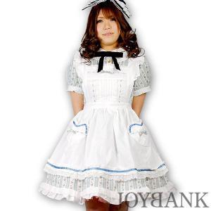 8mm/青花柄ワンピース アリスメイド服風 大きいサイズ ゴスロリ ロリィタ コスプレ衣装|prettygirl