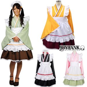 animania/あんみつ和風メイド服 コスプレ コスチューム 大きいサイズ カラー4色|prettygirl