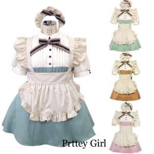 8mm/カントリーミニメイド服 半袖 コスプレ 大きいサイズ カラー4色|prettygirl