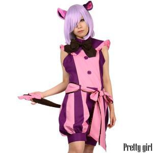 8mm/チェシャ猫ロンパース 大きいサイズ アリス コスプレ ハロウィン 仮装 衣装|prettygirl