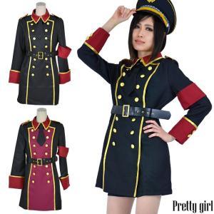 8mm/軍服 ミリタリーコスチューム カラー2色 大きいサイズ コスプレ 衣装 制服|prettygirl