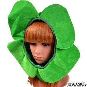 被り物 帽子 おもしろ コスプレ クローバー  四つ葉  緑 グリーン 宴会 余興 ハロウィン 一発芸 ジョーク パーティー 仮装 おもしろ雑貨|prettygirl