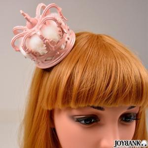 王冠 ミニクラウン ピンクファー ティアラ ヘッドドレス 髪飾り 小さな王冠  コスプレ 小物 プリンセス お姫様 prettygirl