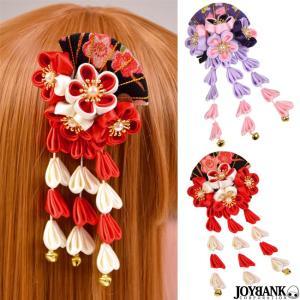 クリップ ヘアクリップ つまみ細工 和風 カラー2色  髪飾り 和柄 成人式 振袖 着物 袴 ヘアアクセサリー 和装|prettygirl
