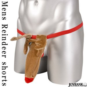 メンズ パンツ ショーツ トナカイ 鹿 クリスマス サンタ クリスマス 下着 Tバック ユニーク ジョーク下着 おもしろ下着 ゆうパケット3点まで[M便 1/3] prettygirl