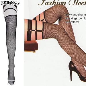 網タイツ SEXYガーター付き 黒 ニーハイ 靴下 2点までゆうメール対象|prettygirl