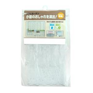 新・防水防カビ カフェカーテン CFC-02 ホワイト(0.15mm厚) 75cm丈×150cm|prettyw