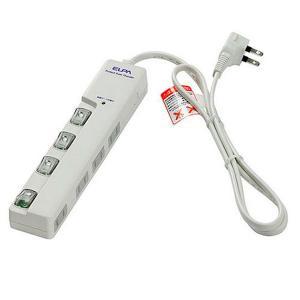 ELPA LEDランプスイッチ付きタップ横 WLS-LY410MB(W)|prettyw