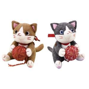 ※発送目安:7〜10営業日 毛糸を持った、目が印象的なかわいいネコのぬいぐるみキットです。お好きな場...