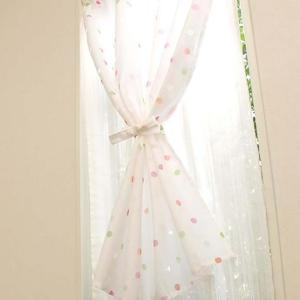 2重小窓カーテン 幅90cm×丈110cm ポルカ prettyw