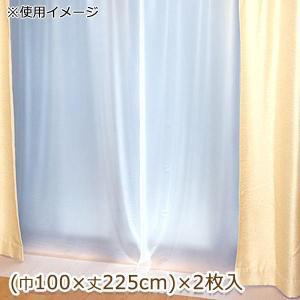 断熱カーテンライナー 採光タイプ 巾100cm×丈225cm 2枚入 ホワイト(W) prettyw