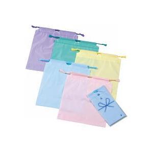 防水カラー巾着 (89001A) ※色指定不可(単品販売)