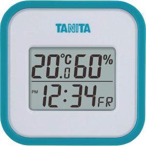 タニタ デジタル温湿度計 ブルー (TT558BL)
