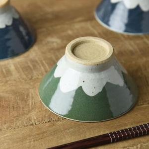 手しごと 13cm富士山型茶碗 みどり 富士山|prettyw