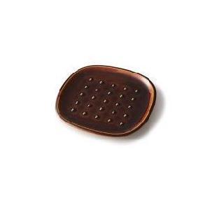 深山(miyama.) crust-クラスト- パン皿 ドット柄 飴釉