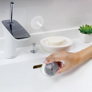 マーナ 「きれいに暮らす。」洗面スポンジ POCO吸盤付き|prettyw