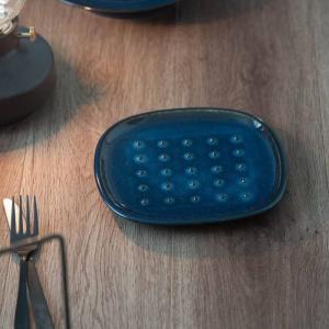 北欧ブルー 深ブルー crust トーストプレート(パン皿)|prettyw