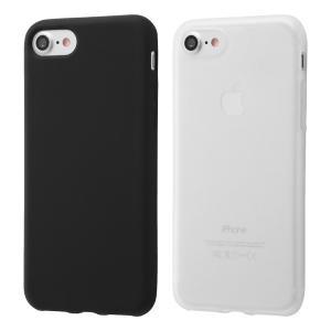 iPhone SE(第二世代)/ 8 / 7 シリコンケース シルキータッチ/ホワイト(半透明)|prettyw