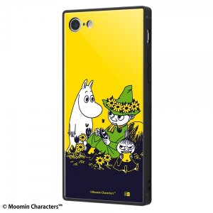 iPhone SE(第2世代)/8/7 /ムーミン/耐衝撃ケース KAKU トリプルハイブリッド/お花畑|prettyw