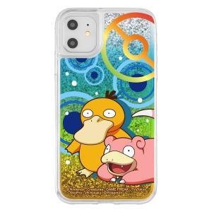 iPhone 11 / XR /ラメ グリッターケース/ ポケットモンスター / コダック & ヤドン|prettyw