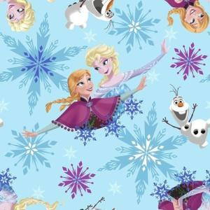 【50cm以上10cm単位】アナと雪の女王 フリースプリント生地 53318 10256 布 輸入 ...