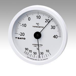 佐藤計量器 温湿度計 ホワイティ 1022−00 prezataisaku