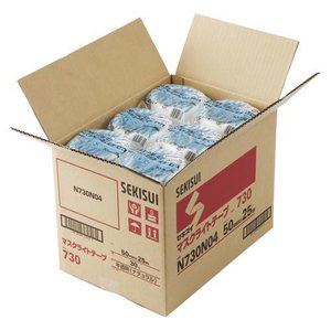送料無料 セキスイ マスクライトテープ 30巻入 幅50mm×25m 半透明 N730N04×30 prezataisaku