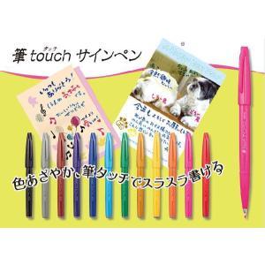 【メール便対応】 ぺんてる 筆touchサインペン SES15C prezataisaku