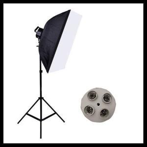 撮影照明セット 照明機材 撮影スタンド 4灯式 撮影用ライト 撮影器具 70×50 撮影照明 スタン...
