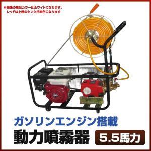 ホース:50メートル 噴霧量:14〜22L/min 本体重量:約45kg エンジン馬力:5.5 HP...
