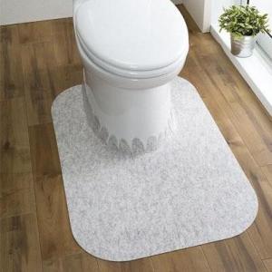 サンコー おくだけ吸着 大理石調トイレマット ロング 巾60×奥行90cm KO-39の写真