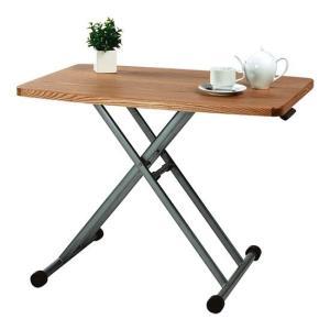 リフトテーブル 昇降機能付き 折りたたみ式 リビングテーブル センターテーブル 木製 新生活 東谷 MIP-36|pricewars