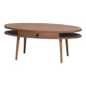 ラウンド型 センターテーブル ナチュラルブラウン 北欧 組立 ローテーブル リビングテーブル カフェテーブル 木目 モダン ALM-12WAL 送料無料(一部地域を除く)|pricewars