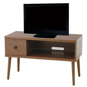 コンパクト テレビボード テレビ台 ナチュラルブラウン 天然木 TVボード 木製 木目 北欧 アンティーク ALM-10WAL 送料無料(一部地域を除く) pricewars