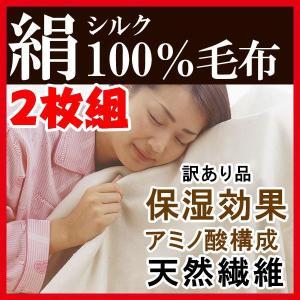 毛布 2枚組 最高級 シルク100%毛布 シルク毛布 訳あり 絹 毛布 シングル 寝具|pricewars