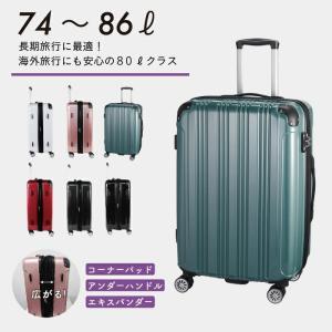 スーツケース S19-D-703 ハードジッパー 24インチ キャリーケース キャリーバッグ 86l 軽量|pricewars