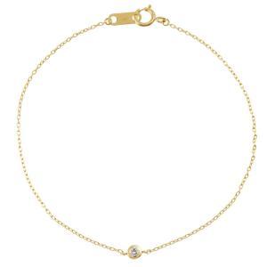 K10 ダイヤモンド ブレスレット 一粒石【0.03ct】|prima-luce