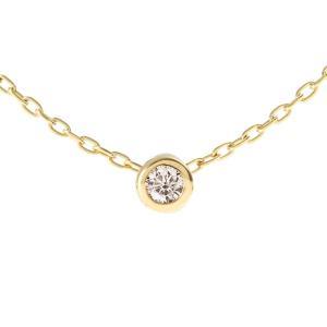 日本製K10 ダイヤモンド ネックレス 一粒石【0.03ct】|prima-luce