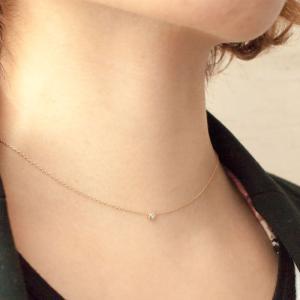 日本製K10 ダイヤモンド ネックレス 一粒石「0.03ct」|prima-luce|06