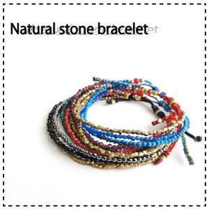 天然石使用!オリジナル3連天然石ビーズブレスレット|prima-luce