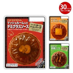 ハンバーグ レトルト 常温 まとめ買い プリマハム ソースで食べるハンバーグ 3種×10パック|primadilli