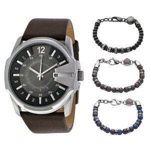 時計&アクセサリーセット ディーゼル 選べる3タイプ 収納ボックス付 メンズ マスターチーフ レザー...