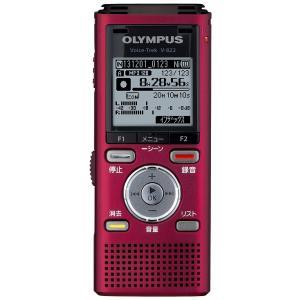 OLYMPUS ICレコーダー VoiceTrek 4GB リニアPCM対応 MicroSD対応 RED レッド V-822