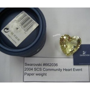文鎮 スワロフスキー Swarovski Heart Shaped Paperweight 2004...