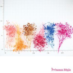 かすみ草 ドライフラワー 小分け ハーバリウム 花材 ブルー レッド パープル等 濃い色 6色/セット|princess-factory|02