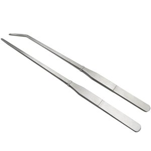 ピンセット ハーバリウム用 ステンレス製 ロングサイズ 27cm ストレート カーブ 2本セット|princess-factory|02