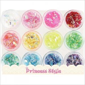 ネイル レジン クラッシュホログラム ネオンフレーク 12色セット|princess-factory