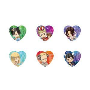 【6/29発送予定】進撃の巨人 星座ハート型缶バッジ<B> ※BOX販売 グッズ|princesscafe