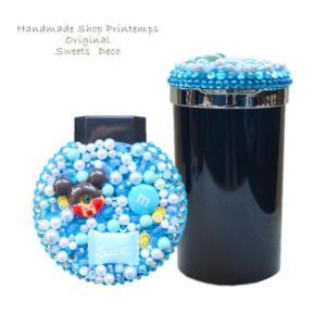 光アッシュ缶灰皿 LEDライト付き(電池式) 火消し口2つ  使用パーツ:アクリルストーン・パーツ...