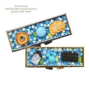 サプリケース ロング型 ブルー スイーツデコ|printemps410